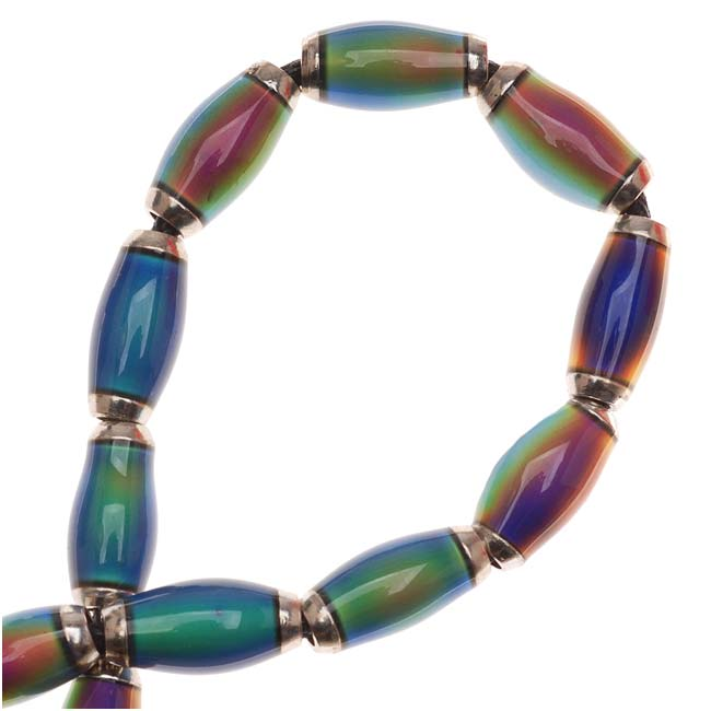 Mirage Color Changing Mood Beads - Tapered Tubes 12x6mm (4)