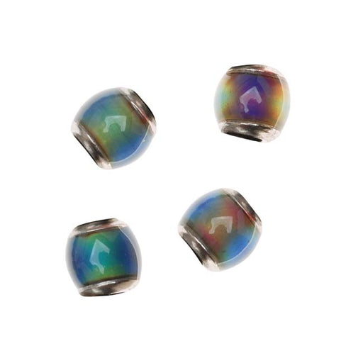 Mirage Color Changing Mood Beads - Barrel Spacers 7 x 7mm (4)