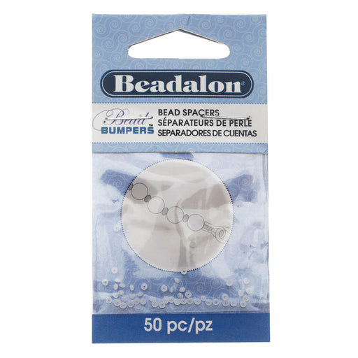 Beadalon Bead Bumpers, Round Silicone Spacers 1.5mm, 50 Pieces, Clear