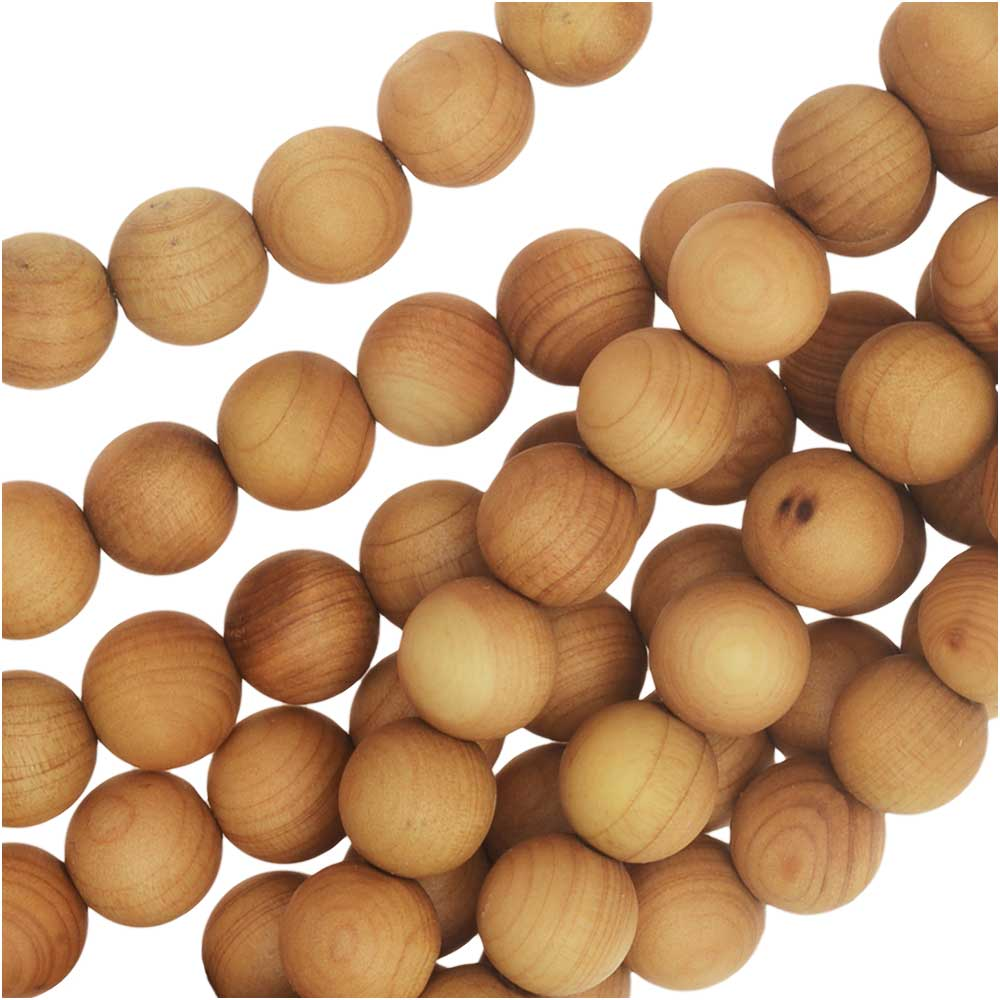 Wooden beads maple 60 pcs round 8mm