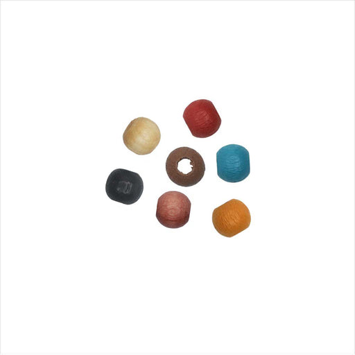 EuroWood Natural Wood Beads, Round 4mm Diameter, 250 Pieces, Multi-Colored