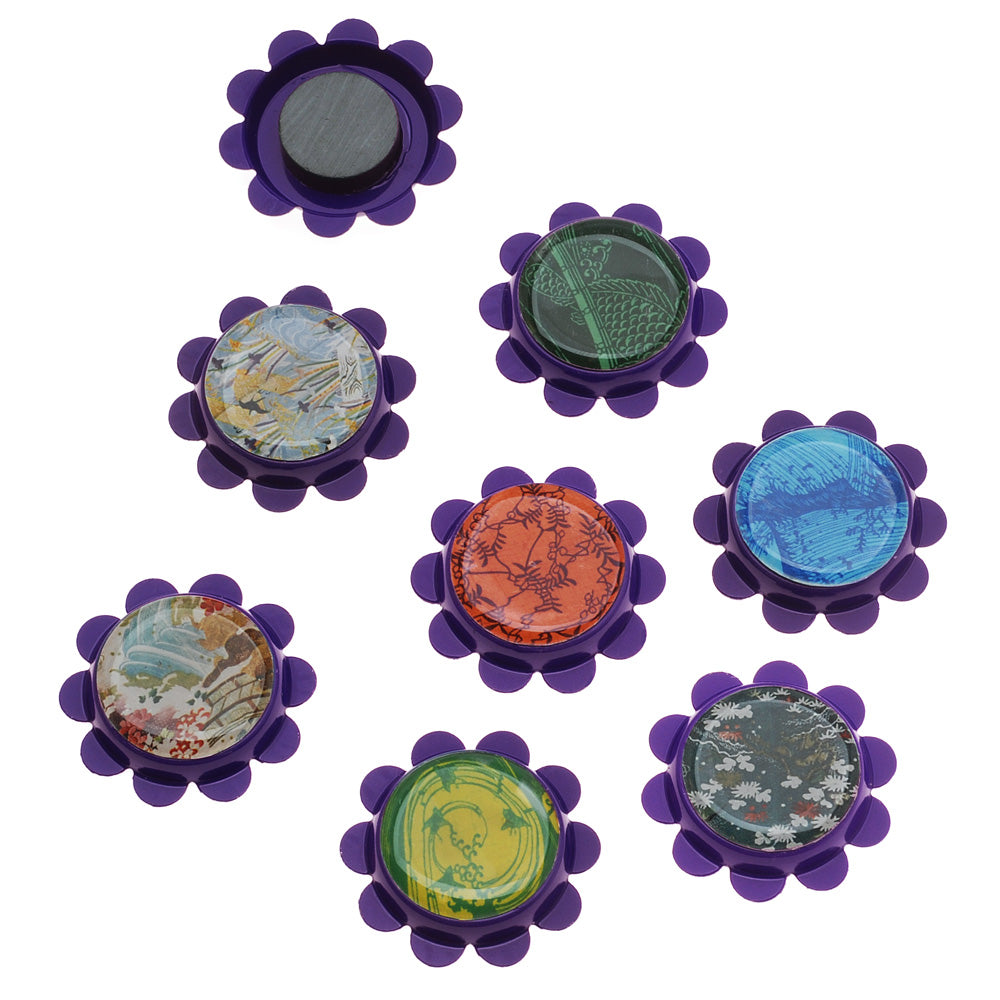 Retired - Flower Bottle Cap Magnet Set
