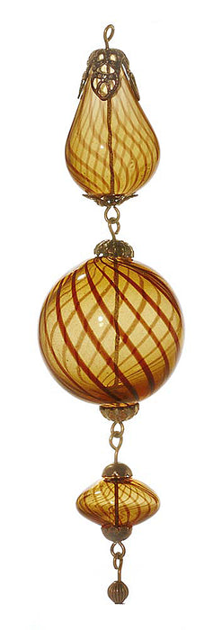 Retired - Brass and Caramel Brown Swirl Heirloom Ornament