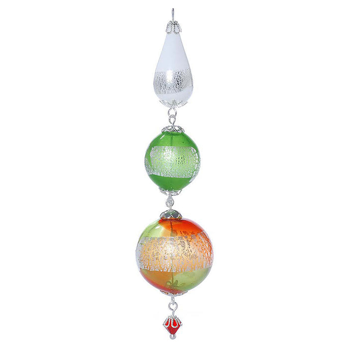 Retired - Silver, Red, White, and Green Heirloom Ornament