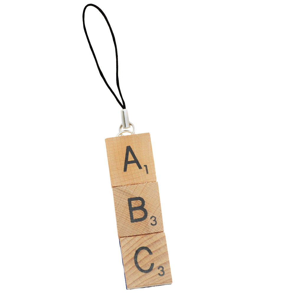 Scrabble Tile Initial Backpack Strap
