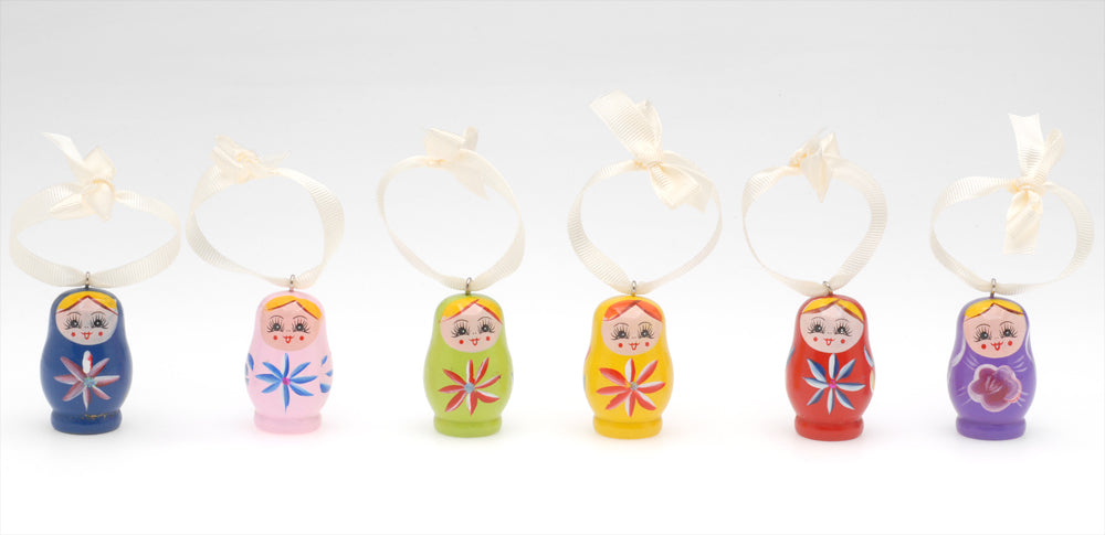 Retired - Russian Nesting Doll Ornament Set