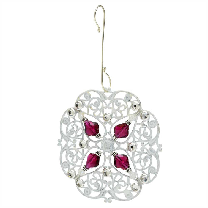 Retired - Baroque Filigree Ornament in Silver
