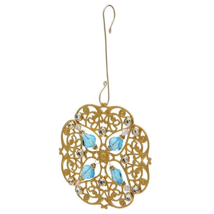 Retired - Baroque Filigree Ornament in Gold