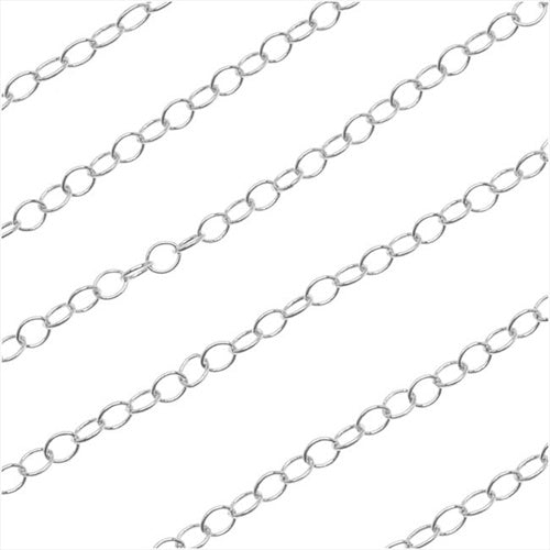 Silver Filled Cable Chain, 2.4mm, by the Foot