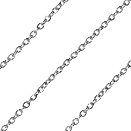 Stainless Steel Delicate Cable Chain, 1.5x1.3mm, by the Foot