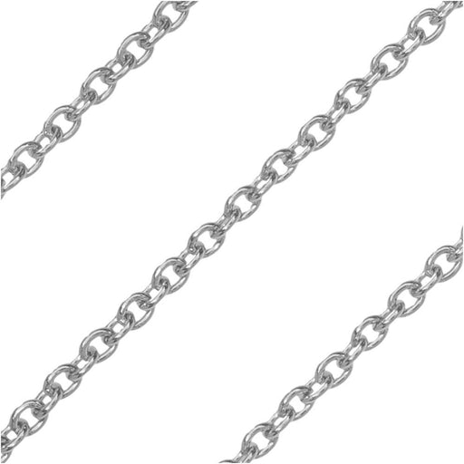 Stainless Steel Cable Chain, 2.2x1.8mm, by the Foot