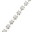 Czech Crystal Rhinestone Cup Chain, 18PP, Chalk White/Silver Plated, by the Foot