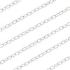 Sterling Silver Fine Cable Chain, 1.3mm, by the Foot