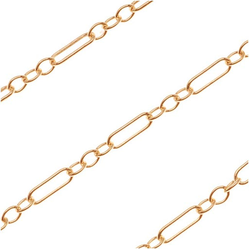 14/20 Gold Filled Delicate Figaro Chain, 1.5mm, by the Foot
