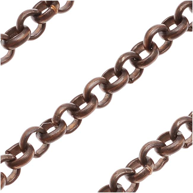 Vintaj Natural Brass Rolo Chain, 3.5mm, by the Foot