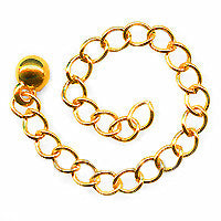 22K Gold Plated Chain Necklace Extender - 3 Inch (x10)