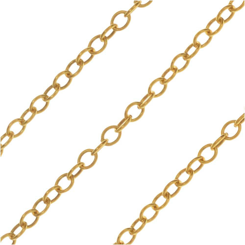 14k Gold Filled Delicate Cable Chain, 1mm, by the Foot,
