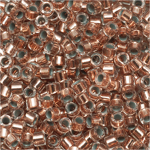 Miyuki Delica Seed Beads, 11/0 Size, 7.2 Grams, Copper Lined Crystal DB037