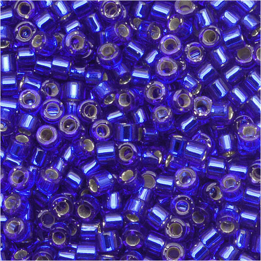Miyuki Delica Seed Beads, 11/0 Size, 7.2 Grams, Silver Lined Sapphire DB047