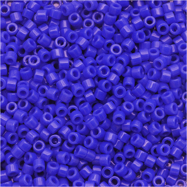 Miyuki Delica Seed Beads, 11/0 Size, 7.2 Grams, Cyan Blue Opaque DB1138