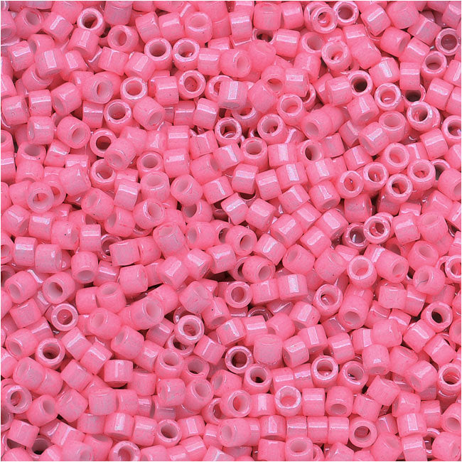 Miyuki Delica Seed Beads, 11/0 Size, 7.2 Grams, Dyed Opaque Rose DB1371