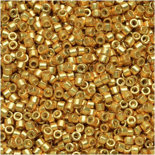 Miyuki Delica Seed Beads, 11/0 Size, 7.2 Grams, Duracoat Galvanized Gold DB1832