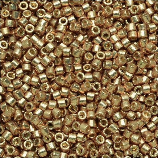 Miyuki Delica Seed Beads, 11/0 Size, 7.2 Grams, Duracoat Galvanized Champagne DB1834