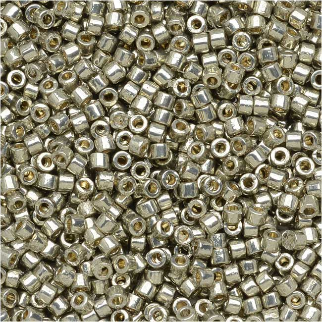 Miyuki Delica Seed Beads, 11/0, 7.2 Grams, Duracoat Galvanized Light Smokey Pewter DB1851