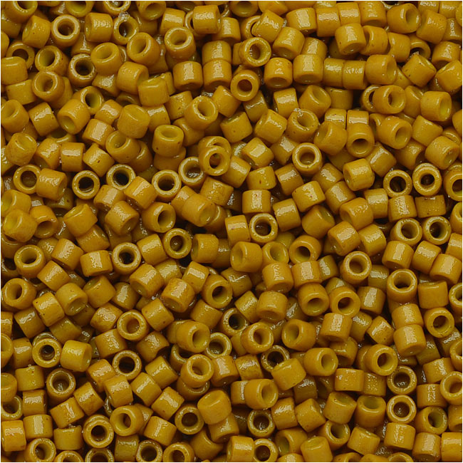 Miyuki Delica Seed Beads, 11/0 Size, 7.2 Grams, Duracoat Opaque Hawthorne Yellow DB2106