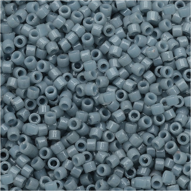 Miyuki Delica Seed Beads, 11/0 Size, 7.2 Grams, Duracoat Opaque Moody Blue DB2129