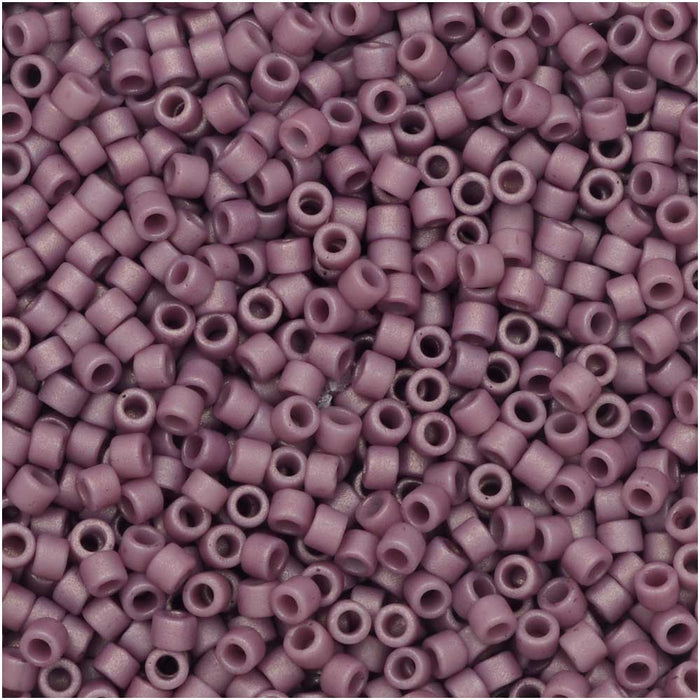 Miyuki Delica Seed Beads, 11/0 Size, 7.2 Gram Tube, #2295 Frosted Opaque Glazed Plum