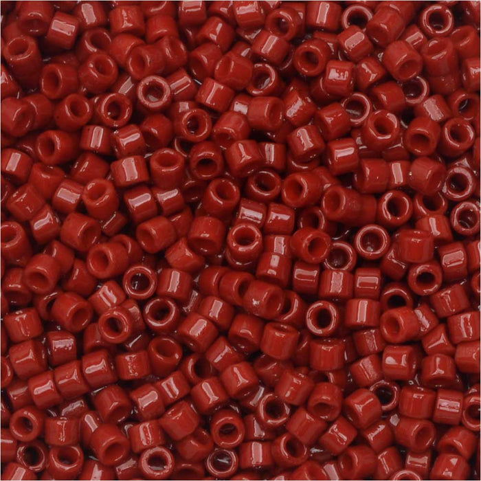 Miyuki Delica Seed Beads, 11/0 Size, #DB2354 Duracoat Barn Red, 7.2 Grams