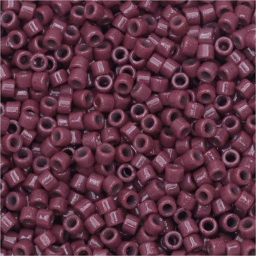 Miyuki Delica Seed Beads, 11/0 Size, #DB2355 Duracoat Grape Purple, 7.2 Grams