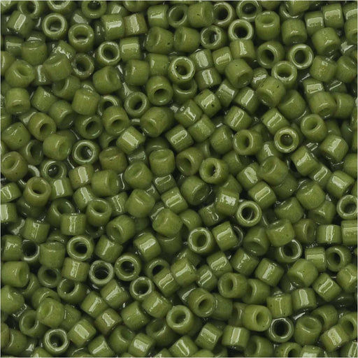 Miyuki Delica Seed Beads, 11/0 Size, #DB2357 Duracoat Army Green, 7.2 Grams