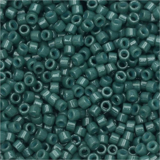 Miyuki Delica Seed Beads, 11/0 Size, #DB2358 Duracoat Spruce Green, 7.2 Grams