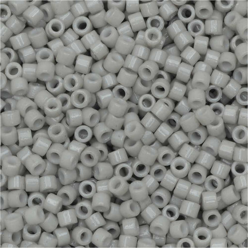 Miyuki Delica Seed Beads, 11/0 Size, #DB2366 Duracoat Soft Grey, 7.2 Grams
