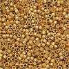 Miyuki Delica Seed Beads, 11/0, 7.2 Grams, Matte Metallic Bright Yellow 24K Gold DB331