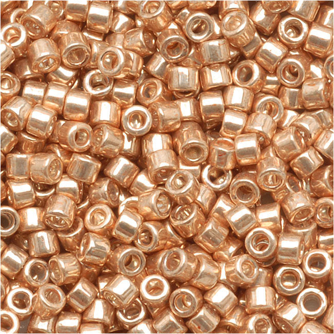 Miyuki Delica Seed Beads, 11/0 Size, 7.2 Grams, Galvanized Gold DB411