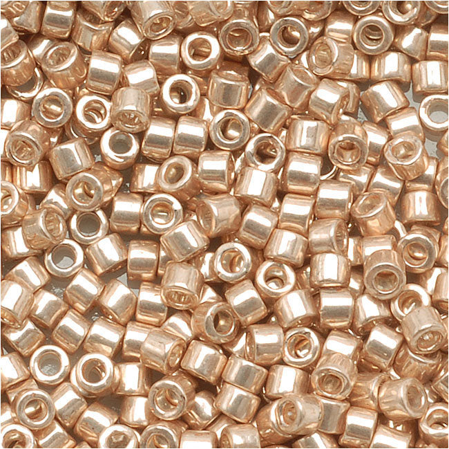 Miyuki Delica Seed Beads, 11/0 Size, 7.2 Grams, Galvanized Champagne DB433