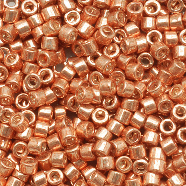 Miyuki Delica Seed Beads, 11/0 Size, 7.2 Grams, Galvanized Muscat Copper DB434