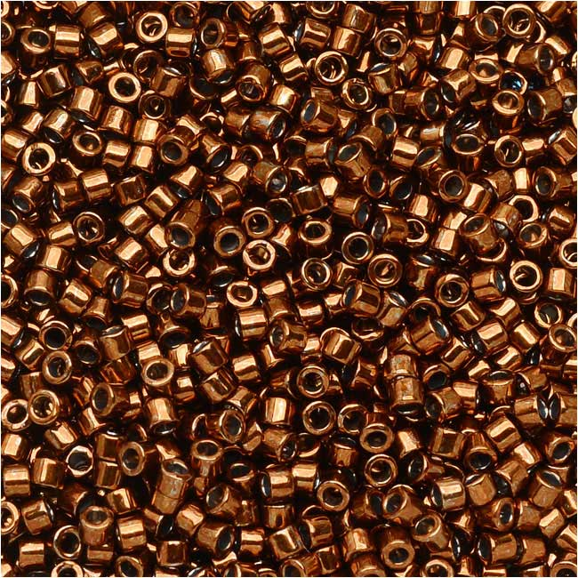Miyuki Delica Seed Beads, 11/0 Size, 7.2 Grams, Galvanized Copper Dyed DB461