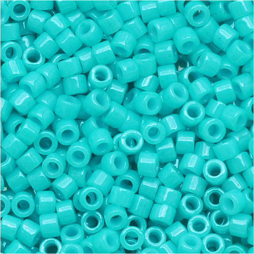 Miyuki Delica Seed Beads, 11/0 Size, 7.2 Grams, Dyed Opaque Turquoise Green DB658