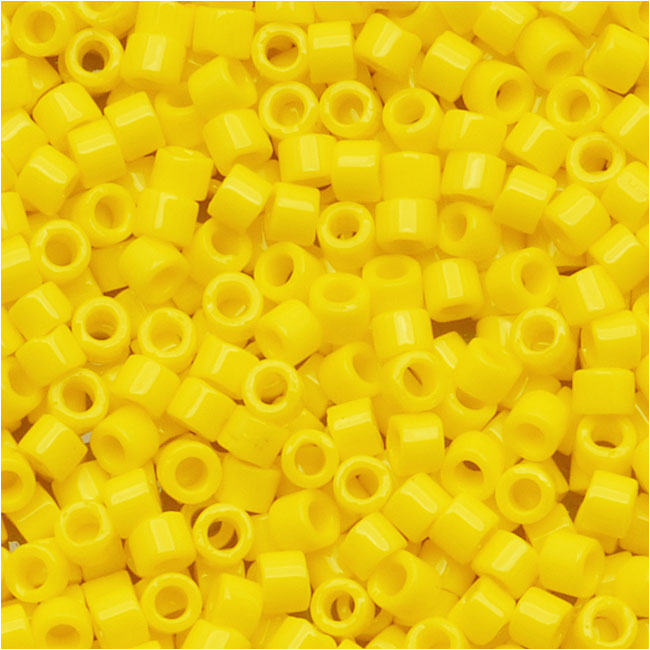Miyuki Delica Seed Beads, 11/0 Size, 7.2 Grams, Opaque Yellow DB721