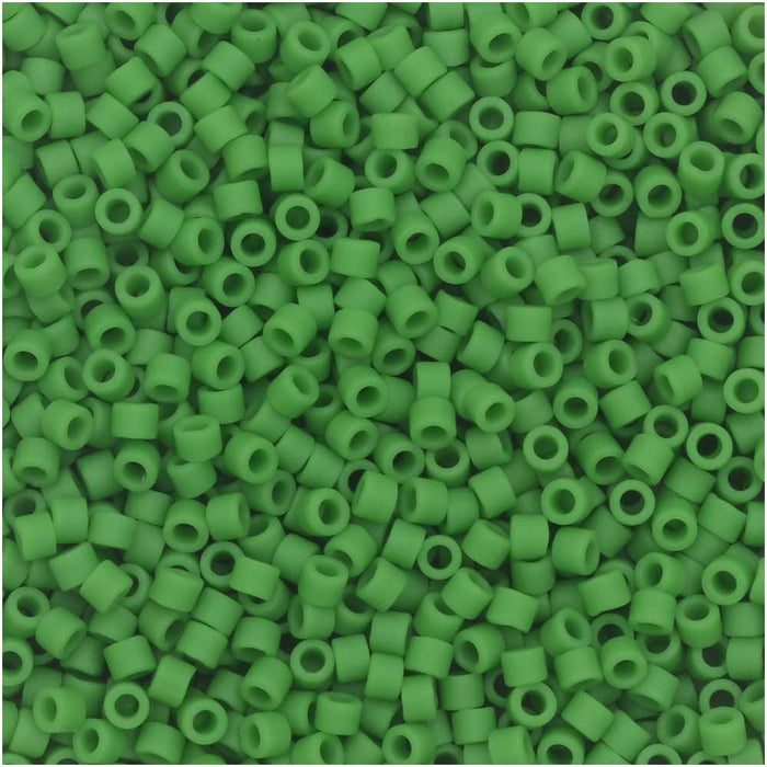 Miyuki Delica Seed Beads, 11/0 Size, 7.2 Gram Tube, #754 Matte Opaque Pea Green