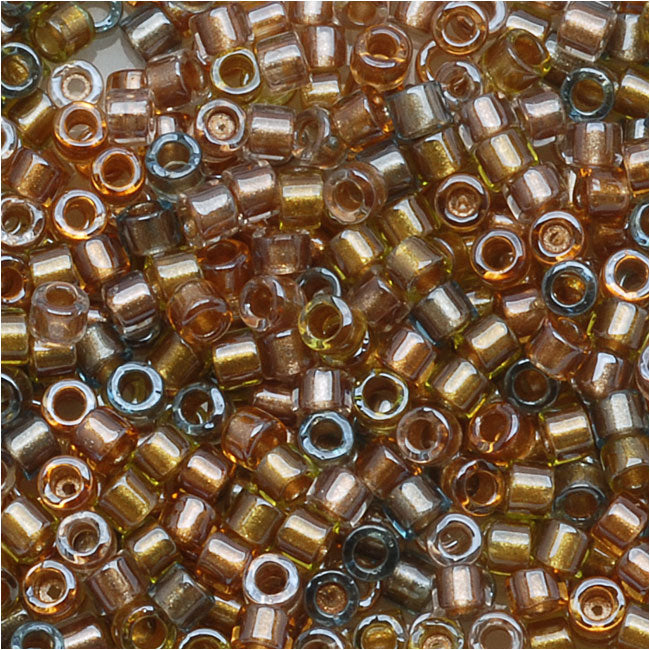 Miyuki Delica Seed Beads, 11/0 Size, 7.2 Grams, Lined Metallic Mix DB981