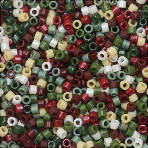 Miyuki Delica Seed Beads, 11/0 Size, #DB-MIX9030 Currant Events Mix, 7.2 Gram Tube