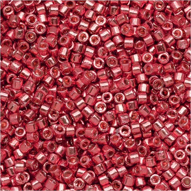 Miyuki Delica Seed Beads, 11/0, 50 Gram Bulk Bag, Duracoat Galvanized Light Cranberry DB1841
