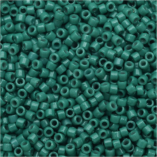 #11 7.5 grams DB2134 Delica Duracoat Seed Beads Opaque Azure Blue