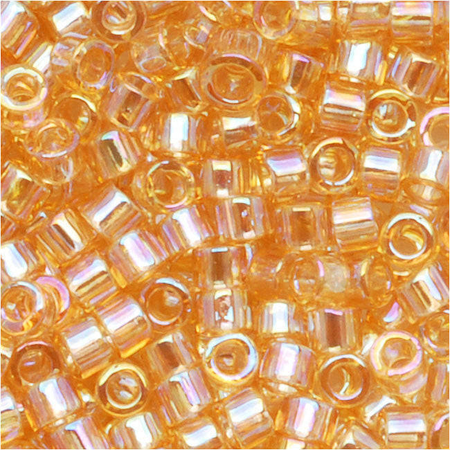 Miyuki Delica Seed Beads, 10/0 Size, 8 Grams, Light Amber AB DBM0100