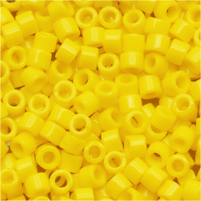 Miyuki Delica Seed Beads, 10/0 Size, 8 Grams, Opaque Yellow DBM0721